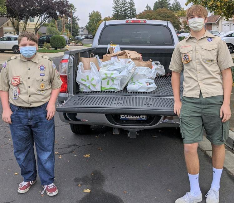 Scouts at Scouting for Food