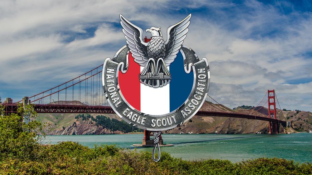 NESA logo over golden gate bridge
