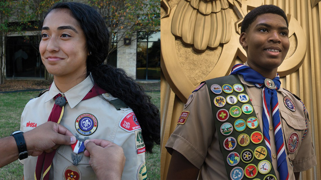 Female and Male Eagle Scouts